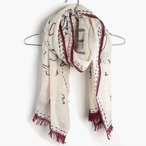 Madewell Daycation Cotton Scarf NWOT